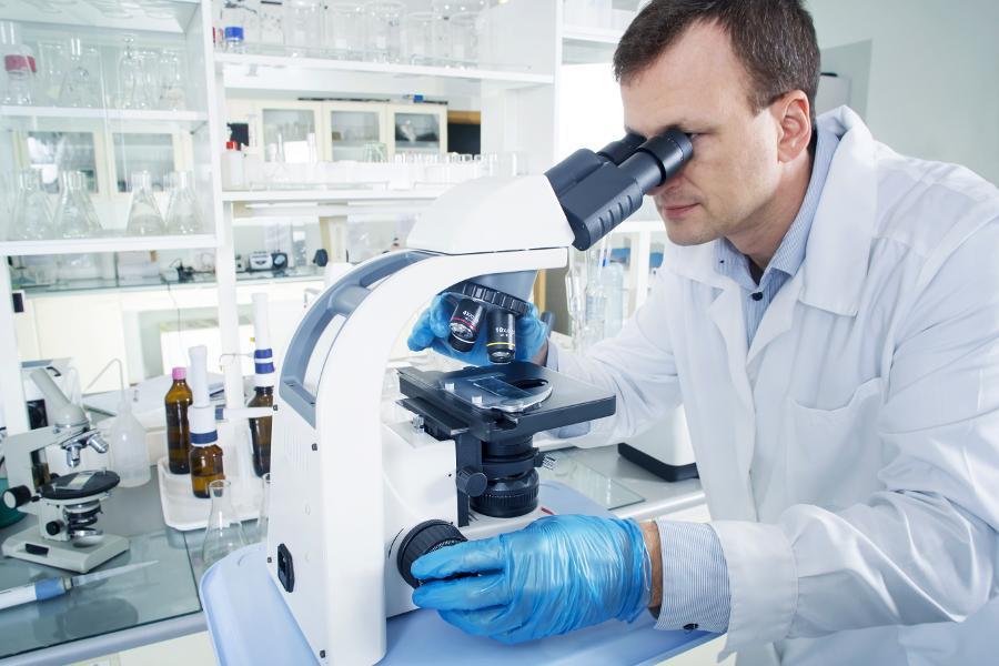 дерматовенеролог за микроскопом
